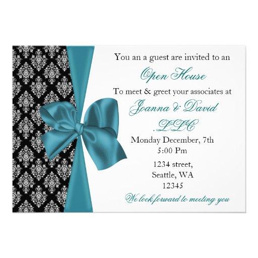 elegant stylish aqua Corporate party Invitation