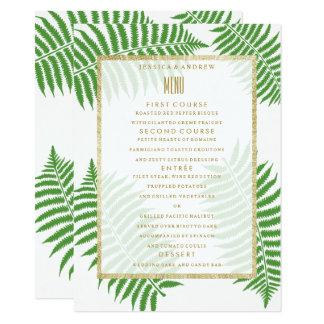 Elegant Stylish Bracken Wedding Menu Card