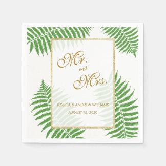 Elegant Stylish Bracken Wedding Paper Napkin