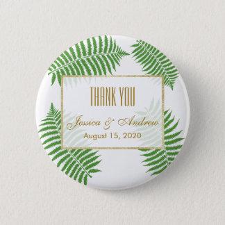 Elegant Stylish Bracken Wedding Pinback Button