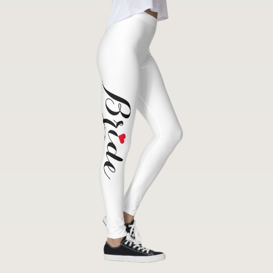 59c03e9e1 Elegant Stylish Bride Wedding Bachelorette Party Leggings