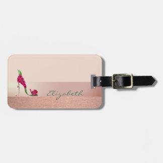 Elegant Stylish Chic,Flower  High Heel Luggage Tag