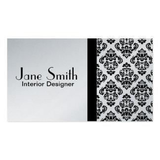 Elegant Stylish Classy Damask Floral Professional Business Card