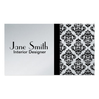Elegant Stylish Classy Damask Floral Professional Double-Sided Standard Business Cards (Pack Of 100)