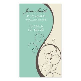 Elegant Stylish Classy Modern Flower Floral Business Card Templates