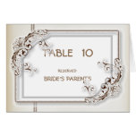 Elegant Stylish Damask Modern Wedding Table Number Greeting Card