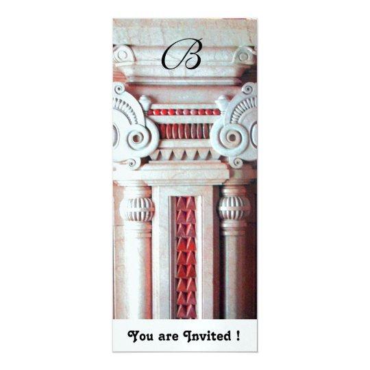 ELEGANT STYLISH DECOR red white, ice metallic Card