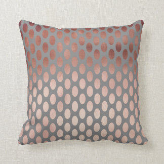 elegant stylish faux rose gold polka dots pattern throw pillow