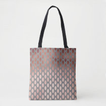 elegant stylish faux rose gold polka dots pattern tote bag