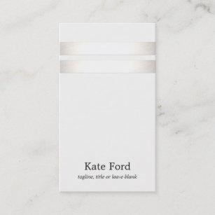 Off white business cards templates zazzle elegant stylish faux silver striped off white business card colourmoves