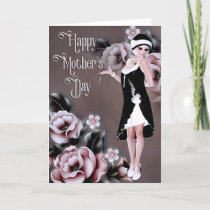 Elegant Stylish Flapper - Mother's Day Card