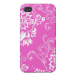 Elegant, stylish. girly lucky pink floral iPhone 4 cases