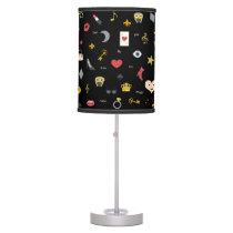 elegant stylish kisses, lips, hearts, owls, notes desk lamp