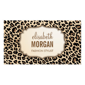 Elegant Stylish Leopard Print Girly Pattern Double-Sided Standard Business Cards (Pack Of 100)