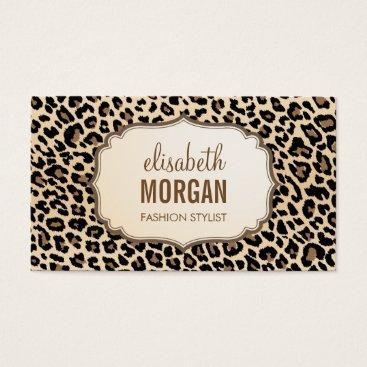 CardHunter Elegant Stylish Leopard Print Girly Pattern Business Card