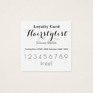 Elegant stylish loyalty customer card