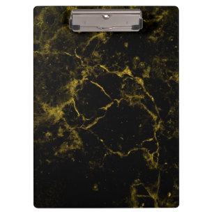 Elegant Stylish Modern Chic Black And Gold Marble Clipboard