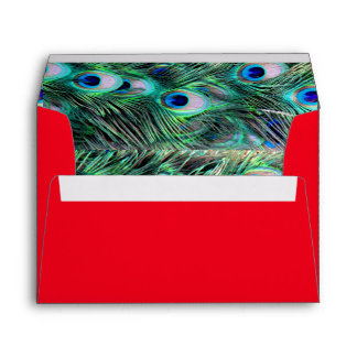 Elegant Stylish Peacock Pattern Girly Cute Glitter Envelope