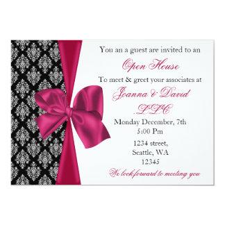 "elegant stylish pink Corporate Invitation 5"" X 7"" Invitation Card"