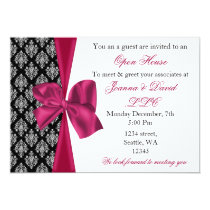 elegant stylish pink Corporate Invitation