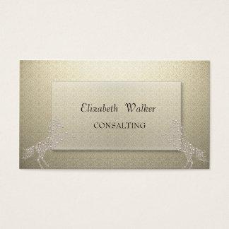 Elegant Stylish Proffesional Damask  Horse Business Card