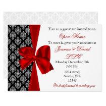 elegant stylish red Corporate party Invitation