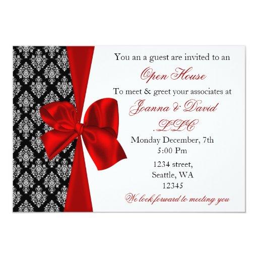 "elegant stylish red Corporate party Invitation 5"" X 7"" Invitation Card"