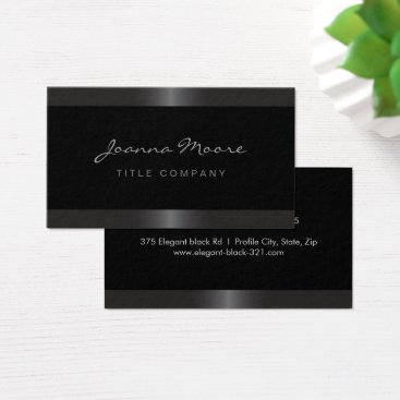 Professional Business Elegant stylish satin gray border black business card