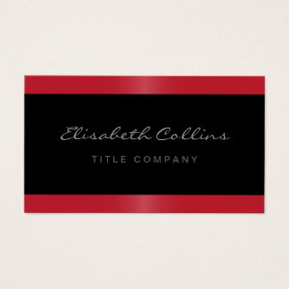 Elegant stylish satin red border black personal business card