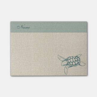 Elegant stylish sea turtle personalized post-it® notes