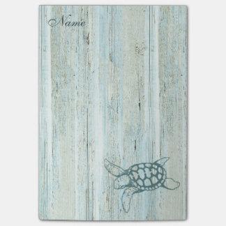 Elegant stylish sea turtle personalized vintage post-it® notes