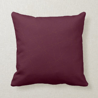 Elegant stylish solid dark purple burgundy throw pillow