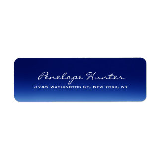 Elegant Stylish Trendy Blue Handwriting Script Label