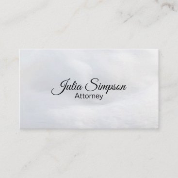Elegant, Stylish, White Fluffy Business Card