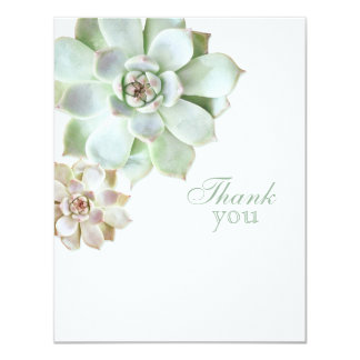 Elegant Succulent Graduation Blank Thank You Card