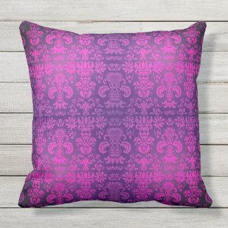 """Elegant-Sultan's-Bed_Damask(c) Fushia_ Throw Pillow"