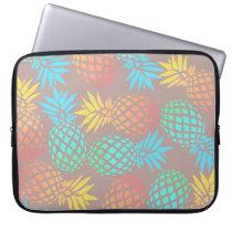 elegant summer tropical colorful pineapple pattern computer sleeve