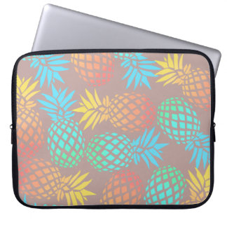 elegant summer tropical colorful pineapple pattern computer sleeve