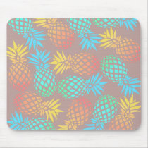 elegant summer tropical colorful pineapple pattern mouse pad