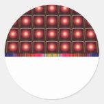 Elegant SUN Light Shade Pattern Classic Round Sticker