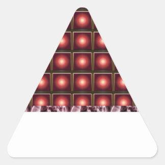 Elegant SUN Light Shade Pattern Triangle Sticker