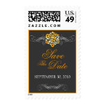 Elegant Sunflower Daisy Bouquet Save The Date Stamps