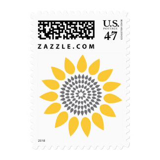 Elegant Sunflower Postage