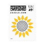 Elegant Sunflower Postage Stamps