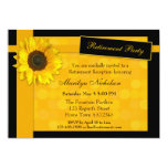 Elegant Sunflower Retirement Party Invitation