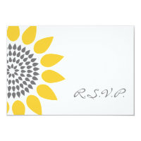 Elegant Sunflower RSVP 3.5x5 Paper Invitation Card (<em>$1.91</em>)