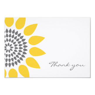 Elegant Sunflower Thank You Card