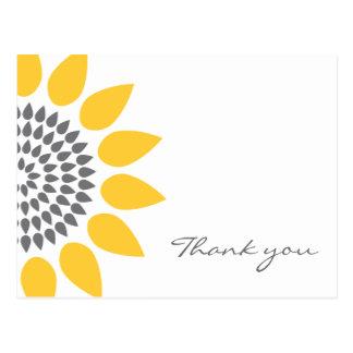 Elegant Sunflower Thank You Postcard