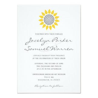 "Elegant Sunflower Wedding 5"" X 7"" Invitation Card"