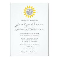 Elegant Sunflower Wedding 5x7 Paper Invitation Card (<em>$2.01</em>)